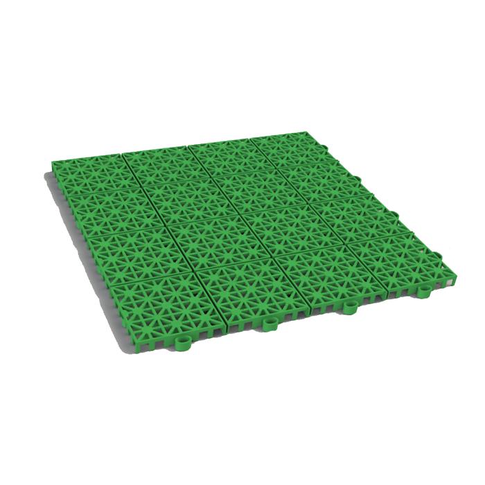 Решётка модульная полимерная (310 х 310 х 11) – РР, зелёная