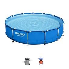 Бассейн Bestway Steel Pro Max 5612E (396x84, с фильтр-насосом)