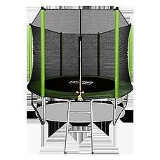Батут Arland 8FT с внешней сеткой и лестницей (Light Green)