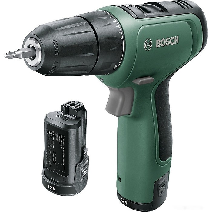 Дрель-шуруповерт Bosch EasyDrill 1200 06039D3002 (с 2-мя АКБ, кейс)