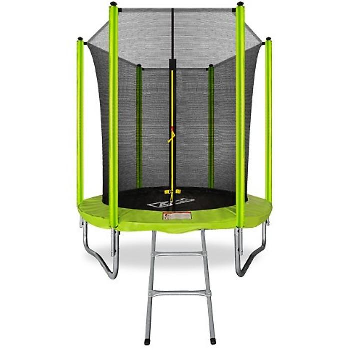 Батут Arland 6FT с внутренней сеткой и лестницей (Light Green)