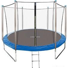 Батут GetActive Jump 10ft - 312 см с лестницей, внутренней сеткой (синий)